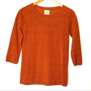 Zara Trafaluc Orange Sweater